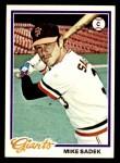 1978 Topps #8  Mike Sadek  Front Thumbnail