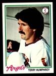 1978 Topps #71  Terry Humphrey  Front Thumbnail