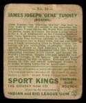 1933 Goudey Sport Kings #18  Gene Tunney   Back Thumbnail