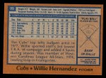 1978 Topps #99  Willie Hernandez  Back Thumbnail