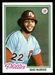 1978 Topps #340  Bake McBride  Front Thumbnail