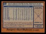 1978 Topps #131  Bert Blyleven  Back Thumbnail
