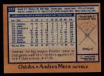 1978 Topps #517  Andres Mora  Back Thumbnail