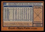 1978 Topps #218  Marty Pattin  Back Thumbnail
