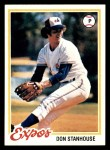 1978 Topps #629  Don Stanhouse  Front Thumbnail