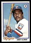 1978 Topps #533  Sandy Alomar  Front Thumbnail