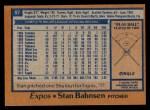 1978 Topps #97  Stan Bahnsen  Back Thumbnail