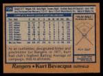 1978 Topps #725  Kurt Bevacqua  Back Thumbnail