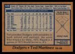 1978 Topps #546  Ted Martinez  Back Thumbnail