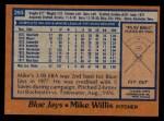 1978 Topps #293  Mike Willis  Back Thumbnail