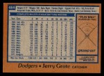 1978 Topps #464  Jerry Grote  Back Thumbnail
