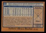 1978 Topps #537  Bruce Bochte  Back Thumbnail