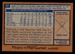 1978 Topps #53  Phil Garner  Back Thumbnail