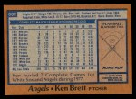 1978 Topps #682  Ken Brett  Back Thumbnail