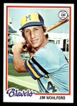 1978 Topps #376  Jim Wohlford  Front Thumbnail
