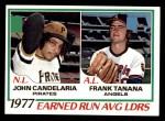1978 Topps #207   -  John Candelaria / Frank Tanana ERA Leaders  Front Thumbnail