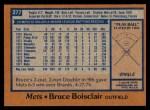1978 Topps #277  Bruce Boisclair  Back Thumbnail