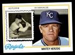 1978 Topps #299  Whitey Herzog  Front Thumbnail