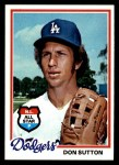 1978 Topps #310  Don Sutton  Front Thumbnail