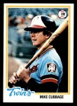 1978 Topps #219  Mike Cubbage  Front Thumbnail