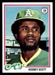 1978 Topps #191  Rodney Scott  Front Thumbnail