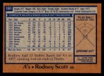1978 Topps #191  Rodney Scott  Back Thumbnail