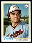 1978 Topps #386  Bob Gorinski  Front Thumbnail