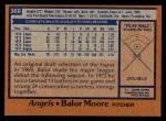 1978 Topps #368  Balor Moore  Back Thumbnail