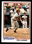 1978 Topps #53  Phil Garner  Front Thumbnail