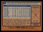 1978 Topps #151  Milt Wilcox  Back Thumbnail