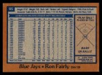 1978 Topps #85  Ron Fairly  Back Thumbnail