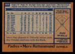 1978 Topps #566  Merv Rettenmund  Back Thumbnail