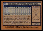 1978 Topps #405  Rawly Eastwick  Back Thumbnail
