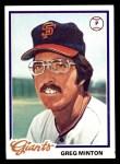 1978 Topps #312  Greg Minton  Front Thumbnail