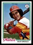1978 Topps #389  Julio Gonzalez  Front Thumbnail