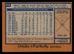 1978 Topps #616  Pat Kelly  Back Thumbnail