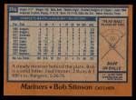 1978 Topps #396  Bob Stinson  Back Thumbnail