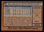 1978 Topps #394  Roy Howell  Back Thumbnail