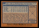 1978 Topps #81  Pete Redfern  Back Thumbnail