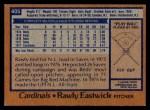 1978 Topps #405  Rawly Eastwick  Back Thumbnail