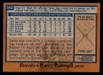 1978 Topps #242  Barry Bonnell  Back Thumbnail