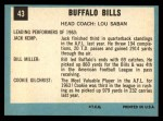 1964 Topps #43   Buffalo Bills Team Back Thumbnail