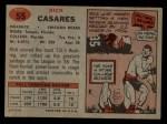 1957 Topps #55  Rick Casares  Back Thumbnail