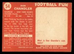 1958 Topps #54  Don Chandler  Back Thumbnail
