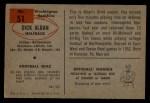 1954 Bowman #51  Dick Alban  Back Thumbnail