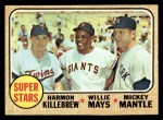 1968 Topps #490   -  Harmon Killebrew / Willie Mays / Mickey Mantle Super Stars Front Thumbnail