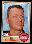 1968 Topps #215  Jim Bunning  Front Thumbnail