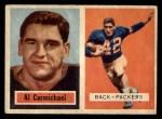 1957 Topps #57  Al Carmichael  Front Thumbnail