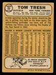 1968 Topps #69  Tom Tresh  Back Thumbnail