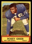 1963 Topps #56  Rosey Grier  Front Thumbnail